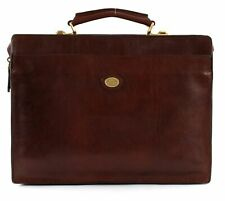 THE BRIDGE Story Uomo Briefcase L Umhängetasche Aktentasche Tasche Braun Neu
