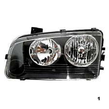 Fits 06-10  Charger Left Driver Halogen Headlamp Assemby With Clear Signal