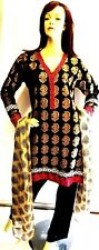 Shalwar kameez black pakistani indian designer salwar sari hijab suit plus uk 22