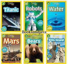 National Geographic Readers Level 3 Titanic,Robots,Mars,Bears +(6 Paperback Set)