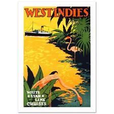 "White Star Lines/West Indies"" Hand Pulled Lithograph by the RE Society"