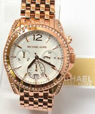 $295 NWT MICHAEL KORS MK5836 PRESSLEY ROSE TONE CHRONOGRAPH AUTHENTIC