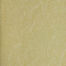 Heavy textured extra thick washable vinyl golden green wallpaper 10m Roll