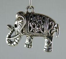 30pcs Tibetan Silver 3D Elephant Charms 26x21x9.5mm AD45683