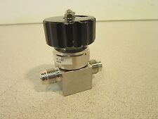 Fujikin Diaphragm Soft-Seal Stainless Steel Ball Valve Cat#096058 Appears Unused