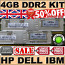 4GB (2x 2GB) PC2-5300F SERVER RAM 240pin HP Proliant DL360 G5 / DL380 G5 £$