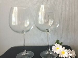Huge PAIR Of Red Wine Glasses Balloon Pint Beer Glassware Drinking TALL Cup750ml