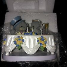 Me To You Tatty Teddy Bear Toasting Our Love Wedding Ornament Figure Boxed Bride