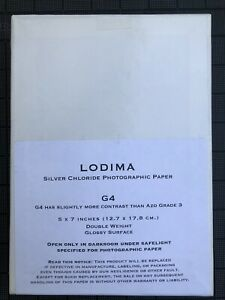 Lodima 5x7Silver Chloride Contact Printing Paper 100 Sheets, New Stock, Unopen