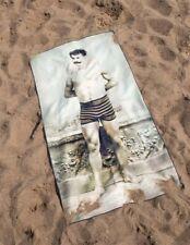 Victorian Trading Co Vintage Black & White Muscular Man Cheeky Beach Towel
