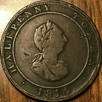 1814 NOVA SCOTIA HOSTERMAN AND ETTER HALIFAX HALFPENNY TOKEN - Nice example!