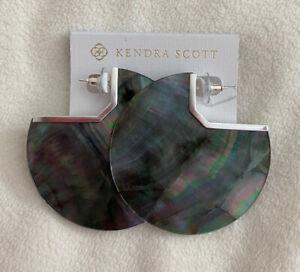 New Kendra Scott Kai Statement Earrings MOP w/ Silver $130.00