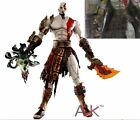 """7"""" NECA God of War 2 Kratos flame Action Figure movable joints in box"""
