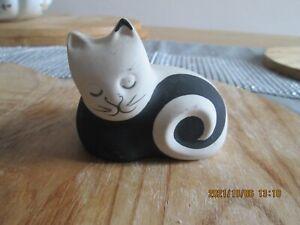 Retro Cat Ornament Scottish Highbank Porcelain Lochgilphead Labelled & Signed