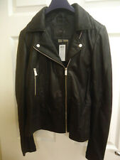 YAS Tall Ladies Leather Motorbike Jacket Size 8