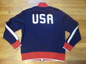 NIKE NATIONAL TEAM  USA SOCCER ZIP UP SWEATSHIRT RED WHITE & BLUE XL RN# 56323