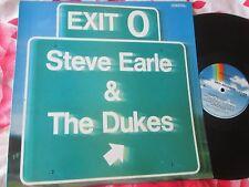 Steve Earle & The Dukes – Exit 0 MCA Records MCF3379 UK Vinyl LP Album