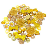 80 Mix Gold Shabby Chic Resin Flatbacks Craft Cardmaking Embellishments
