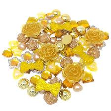 80 Mix Gold Shabby Chic Resin Flatbacks Craft Cardmaking Embellishments