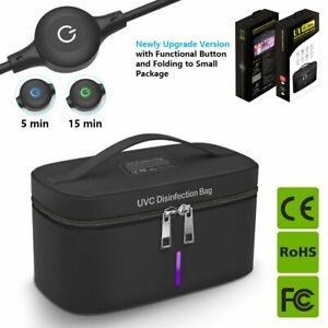Portable USB Nylon UV Sterilizing Bag LED Cleaner Disinfect Box For Phone Mask