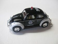 1:32 SCALE KINSMART 1967 VOLKSWAGEN CLASSICAL BEETLE POLICE PULLBACK W/O BOX