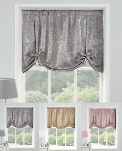 Halo Metallic Glitter Blockout Tie Blinds available in 3 fabulous colours