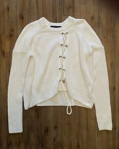 FCUK Size M French Connection White/Cream Knit Jumper Women's