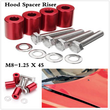 Red 8MM Billet Aluminum Risers Spacer Car Oversized Engine Swaps Accessories