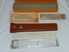 VTG DIETZGEN N1725L VECTOR TYPE LOG LOG Microglide Slide Rule Leather Case w/box