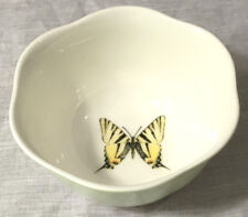 Lenox Brand Butterfly Meadow Green & White Bowl w/ Ladybugs by Louise Le Luyer