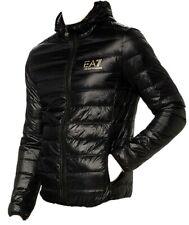 New Emporio Armani EA7 8NPB02 Core Logo Down Hooded Jacket Black/Gold Size XL