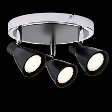 Ronda plafón negro 3x 3,5w LED emisor mantas lámpara gu10 230v System