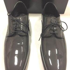 DOLCE&GABBANA Mens Enamel dress shoes gray new articles 10