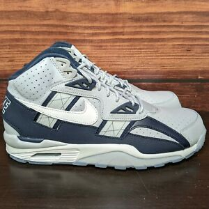 Nike Air Trainer SC High Georgetown Men's 11.5 Grey White Obsidian Navy shoes