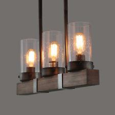 Lnc Wood 3 Lights Chandelier for Kitchen Island ,Dining Room ,Living Room
