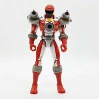 2006 Bandai Power Rangers Operation Overdrive Gyro Launcher Red Ranger Figure