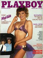 PLAYBOY/ FEB/1981* SPECIALE SUPPLEMENTO : LE FOTO EXTRA MARILYN MONROE * MARILDA