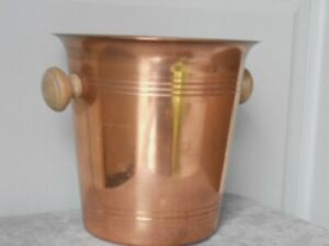 Vintage french COPPER  ICE BUCKET cooler