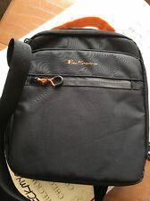 NEW NWT $100 Ben Sherman Men's Black & Orange Crossbody Tablet Bag Style 130005