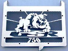 """cache / Grille de radiateur inox poli Suzuki 750 GSR """"Bulldog"""" + grillage noir"""