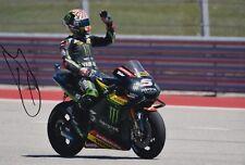 Johann ZARCO main signé Monster Yamaha Tech 3 12x8 Photo 2018 MotoGP 1.