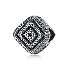European Silver Charms Enamel Hearts Beads CZ Pendant Fit 925 Sterling Bracelets