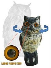Scare Owl with Rotating Head Possum Rodent & Bird Pest garden Deterrent vegie