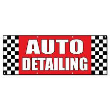 Auto Detailing Auto Body Shop Car Repair Banner Sign 2 ft x 4 ft /w 4 Grommets