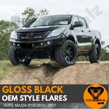 FENDER FLARES KIT GLOSS BLACK FITS MAZDA BT-50 2012 - 2017 GUARD TRIM