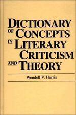 Dictionary of Concepts in Literary Criticism and Theory: (Reference Sources for