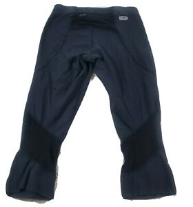Sugoi Cycling Pants Black Small Crop length Woman's Triathlon Bicycle zip pocket