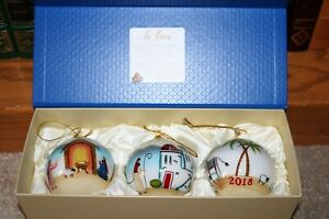 New PIER 1 LI BIEN NATIVITY ORNAMENTS Christmas Set of 3 2018