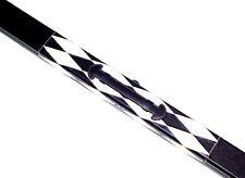 Custodia rigida in IN SIMILPELLE BLACK & WHITE DIAMOND design per una lunghezza 3/4 CUE (S321