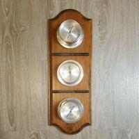 Vintage Springfield Barometer Weather Station Thermometer Barometer Hanging USA